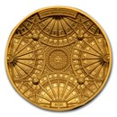 2021 Solomon Islands 100 gram Gold Canterbury Cathedral (4-Layer)