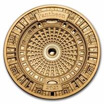 2021 Solomon Islands 100 gram Gold Pantheon (4-Layer)