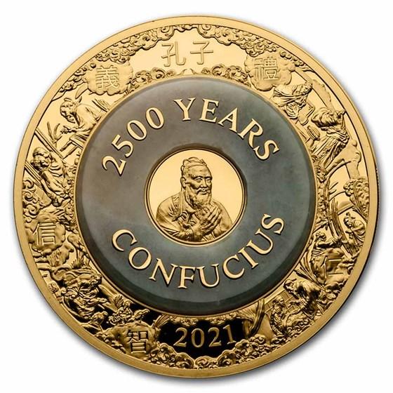2021 Solomon Islands 2 oz Gold 2500 Years: Confucius