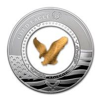2021 Solomon Islands 2 oz Silver Embracing Gold: Gold Eagle