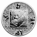 2021 Solomon Islands 2 oz Silver Filigree Panda