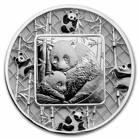2021 Solomon Islands 2 oz Silver Filigree Panda