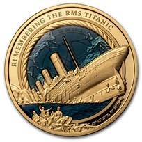 2021 Solomon Islands 3 oz Gold Remembering the RMS Titanic