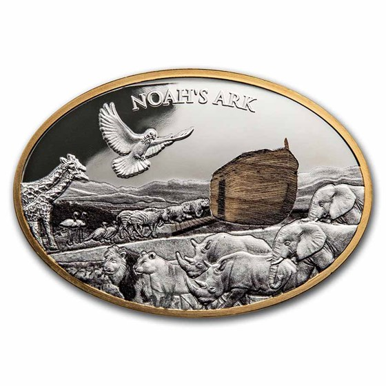 2021 Solomon Islands 3 oz Silver Noah's Ark