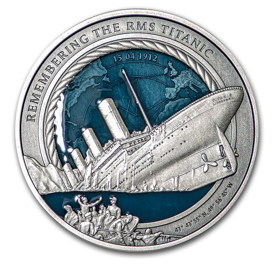 2021 Solomon Islands 3 oz Silver Remembering the RMS Titanic