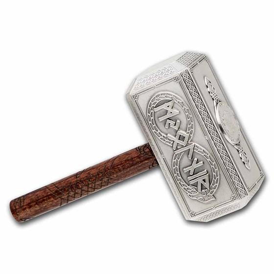 2021 Solomon Islands 500 gram Silver Thor's Iconic Hammer