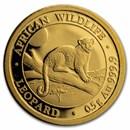 2021 Somalia 1/2 gram Gold African Wildlife Leopard BU