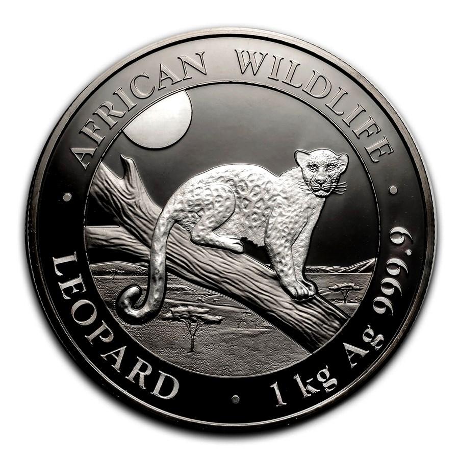 2021 Somalia 1 kilo Silver Black Premium Edition Leopard BU
