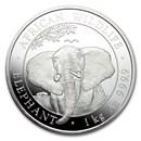 2021 Somalia 1 kilo Silver Elephant BU