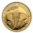 2021 Somalia 1 oz Gold Elephant Coin BU (Ox Privy)