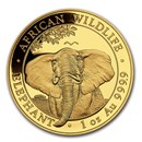 2021 Somalia 1 oz Gold Elephant Coin BU