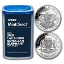 2021 Somalia 1 oz Silver Elephant (20-Coin MintDirect® Tube)