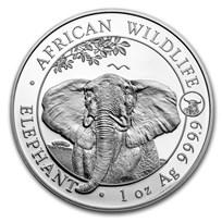 2021 Somalia 1 oz Silver Elephant BU (Ox Privy)