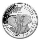 2021 Somalia 1 oz Silver Elephant BU