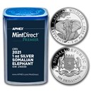 2021 Somalia 1 oz Silver Elephant (MintDirect® Premier Tube)
