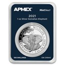 2021 Somalia 1 oz Silver Elephant (MintDirect® Single)