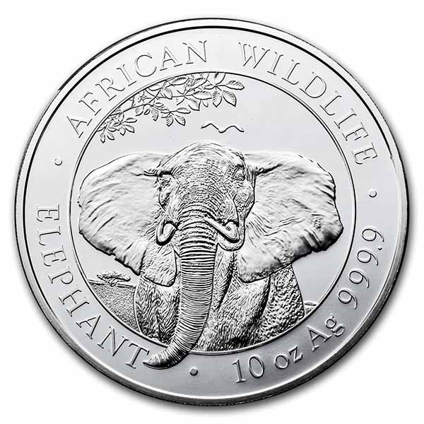 2021 Somalia 10 oz Silver Elephant BU