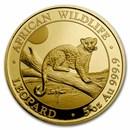 2021 Somalia 5 oz Gold Proof African Wildlife Leopard