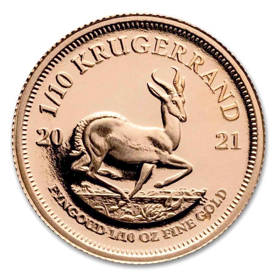 2021 South Africa 1/10 oz Proof Gold Krugerrand