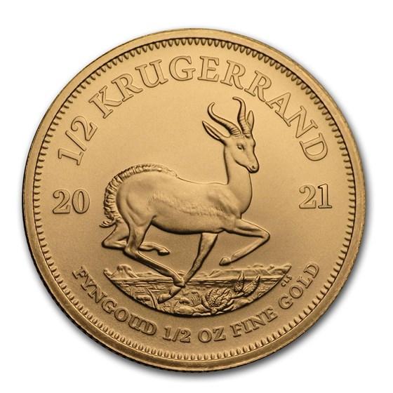 2021 South Africa 1/2 oz Gold Krugerrand BU