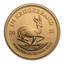 2021 South Africa 1/4 oz Gold Krugerrand BU