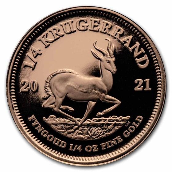 2021 South Africa 1/4 oz Proof Gold Krugerrand