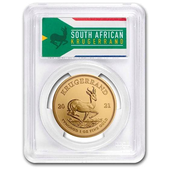 2021 South Africa 1 oz Gold Krugerrand MS-69 PCGS