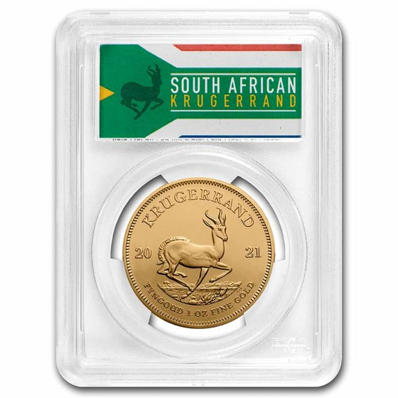 2021 South Africa 1 oz Gold Krugerrand MS-70 PCGS