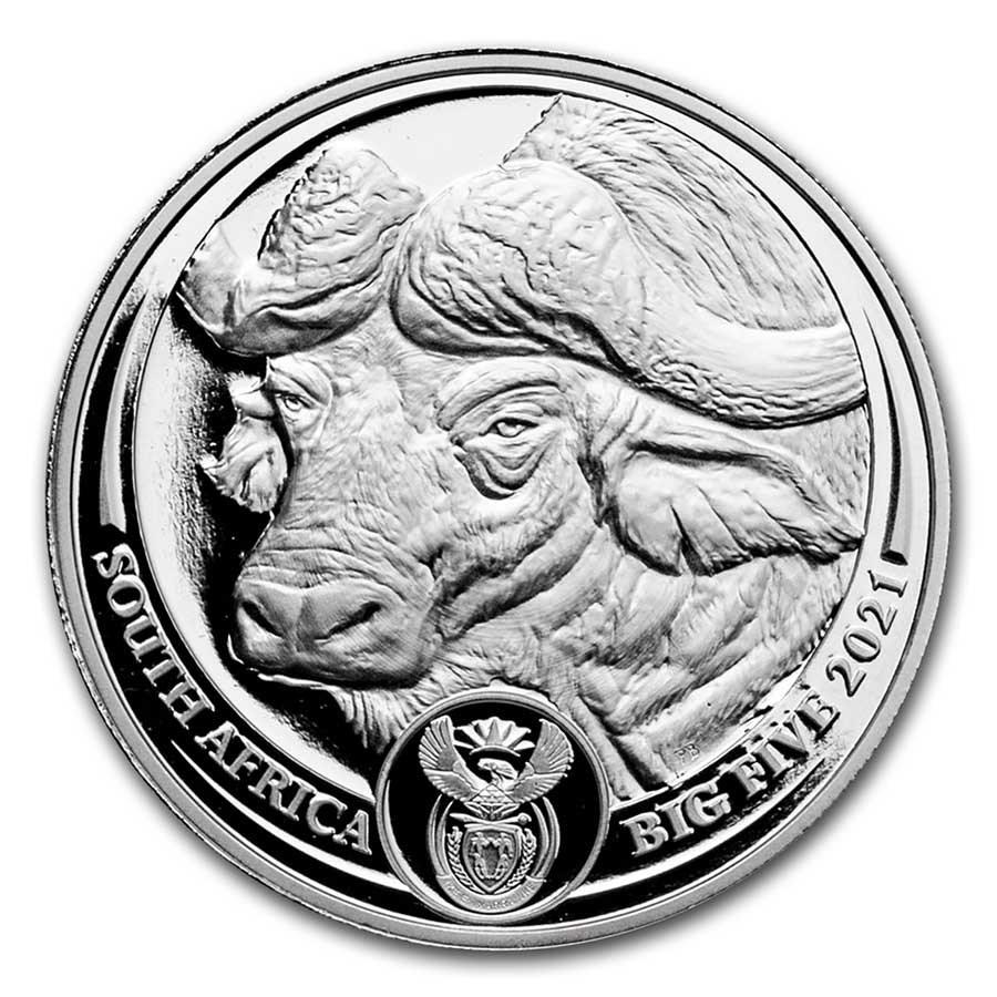2021 South Africa 1 oz Platinum Big Five Buffalo Proof
