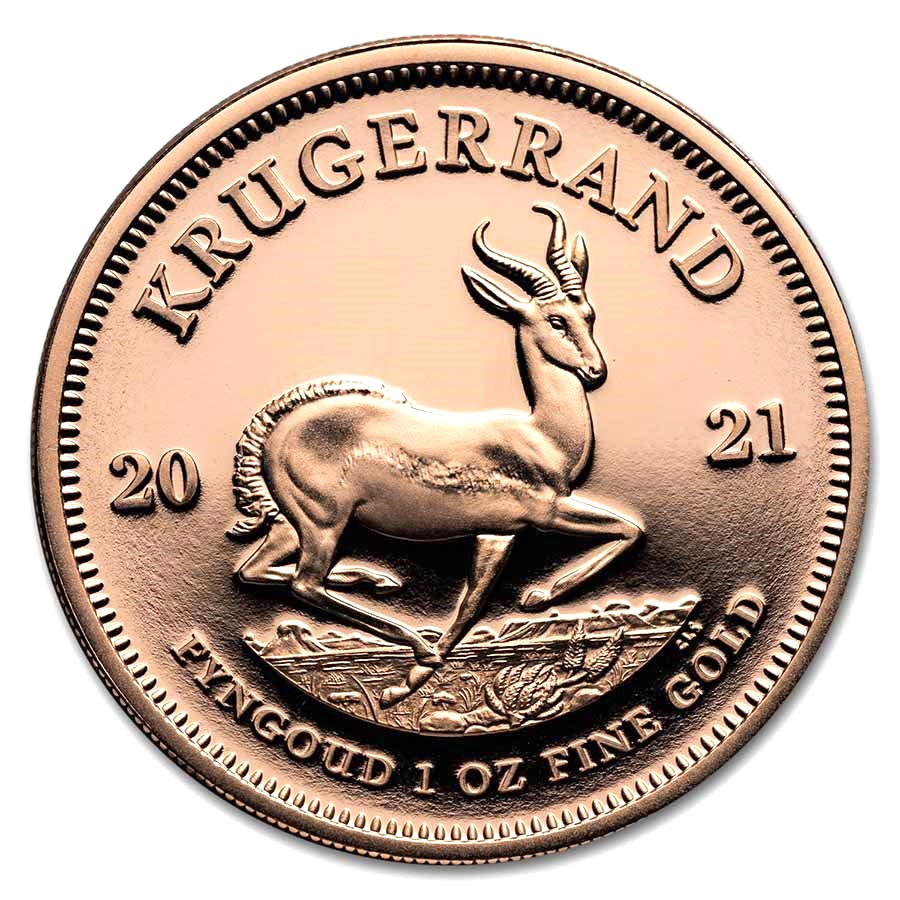 2021 South Africa 1 oz Proof Gold Krugerrand