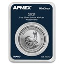 2021 South Africa 1 oz Silver Krugerrand (MintDirect® Single)