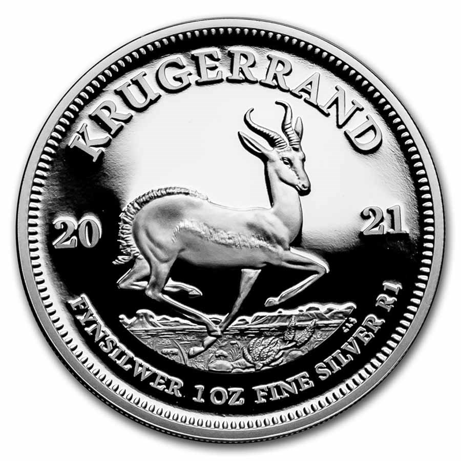 2021 South Africa 1 oz Silver Krugerrand Proof