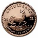 2021 South Africa 2 oz Proof Gold Krugerrand