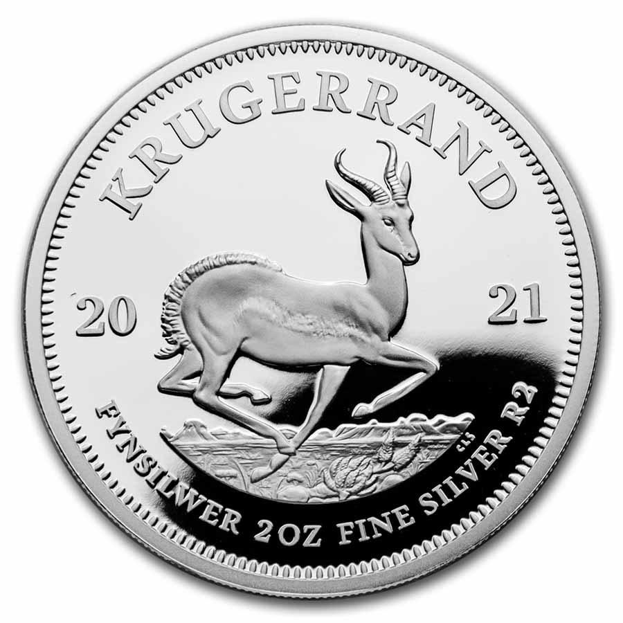 2021 South Africa 2 oz Silver Krugerrand Proof