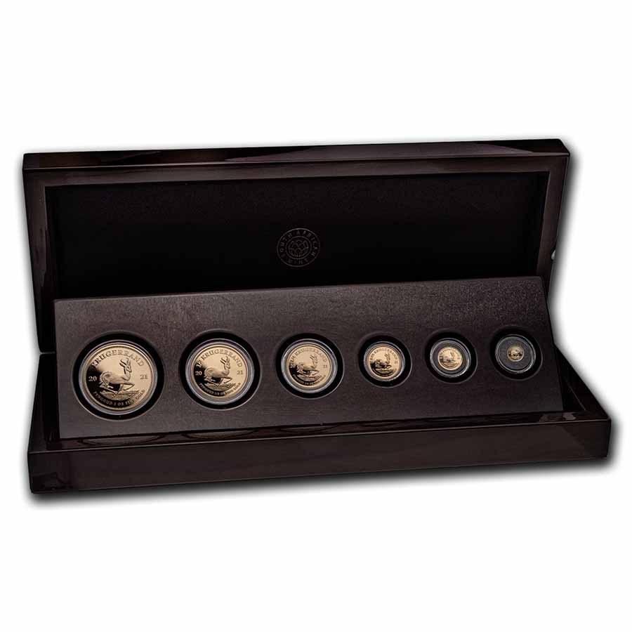 2021 South Africa 6-coin Gold Krugerrand Prestige Proof Set