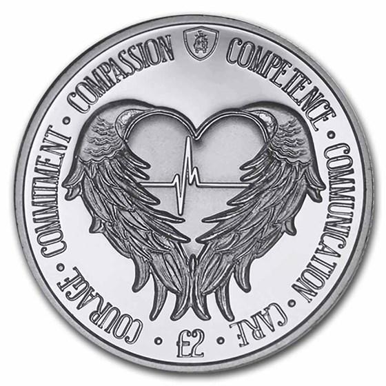 2021 South Georgia & Sandwich Islands Silver Proof £2 Angel Wings