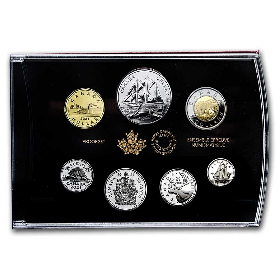2021 Special Edition Silver Dollar Set 100th Anniv of Bluenose