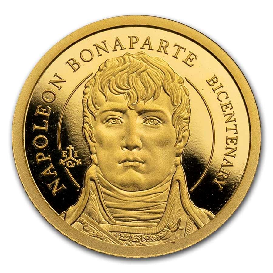 2021 St.Helena 1/2 gram Gold Napoleon Bonaparte 200th Anniversary