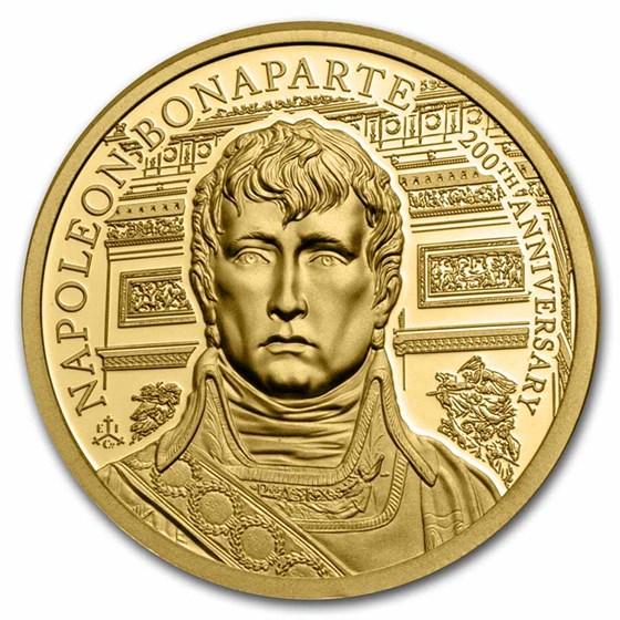 2021 St. Helena 1/4 oz Gold Napoleon Bonaparte 200th Anniversary