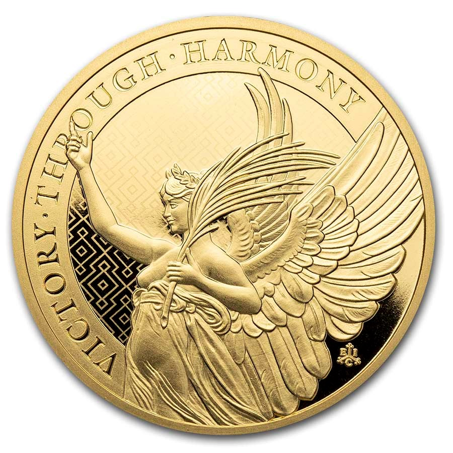 2021 St. Helena 1 oz Gold £100 Queen's Virtues: Victory BU
