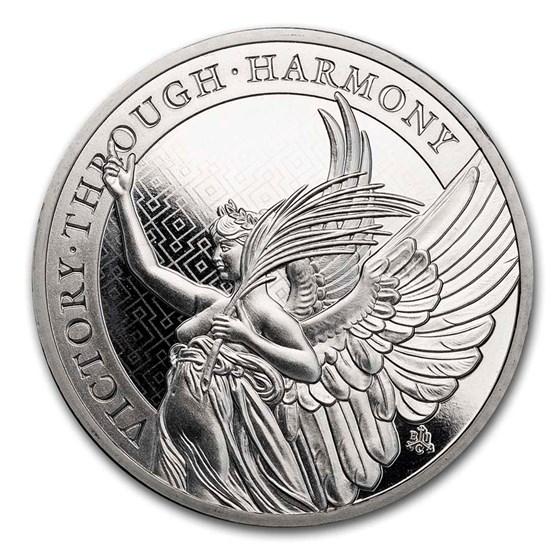 2021 St. Helena 1 oz Platinum Queen's Virtues: Victory BU