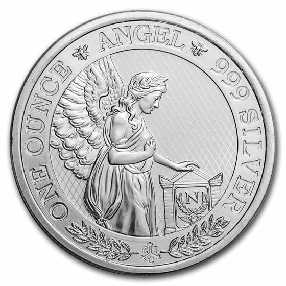2021 St. Helena 1 oz Silver £1 Napoleon Angel BU