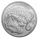 2021 St. Helena 1 oz Silver Chinese Trade Dollar (BU)