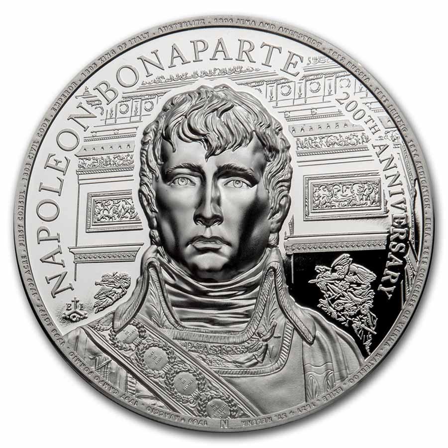 2021 St. Helena 1 oz Silver Napoleon Bonaparte 200th Anniversary