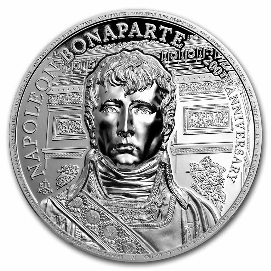 2021 St. Helena 2 oz Silver Napoleon Bonaparte 200th Anniversary