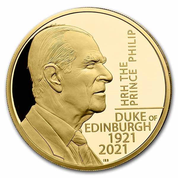2021 The Prince Philip, Duke of Edinburgh 2 oz Gold Proof Coin