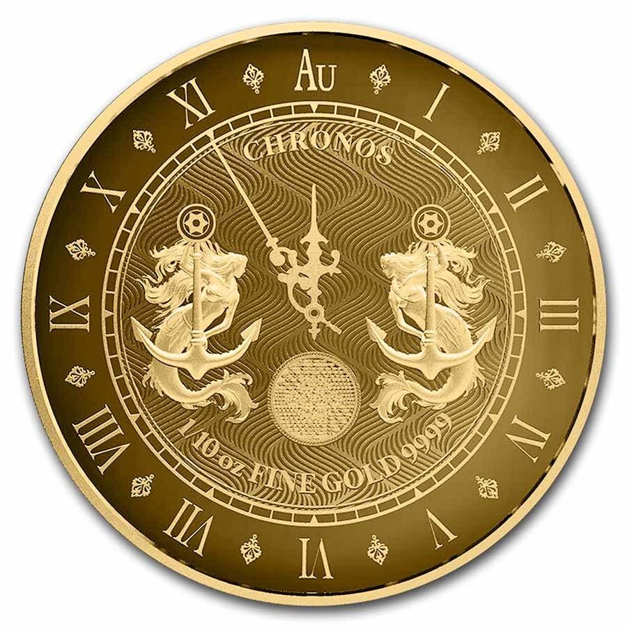 2021 Tokelau 1/10 oz Gold $10 Chronos (Prooflike)