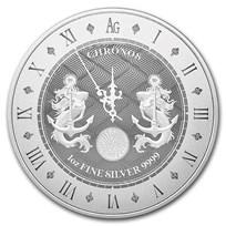 2021 Tokelau 1 oz Silver $5 Chronos