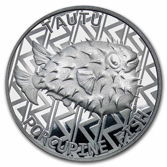 2021 Tokelau 1 oz Silver $5 Porcupine Fish BU