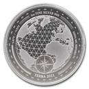 2021 Tokelau 1 oz Silver $5 Terra BU